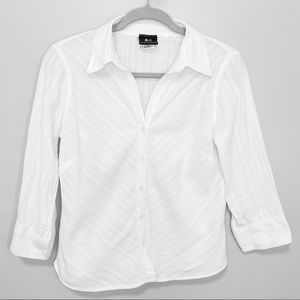 Vintage ALC White Stripe Texture Button Down